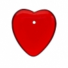 Glass Bead Heart 7X24mm Strung - Siam Ruby